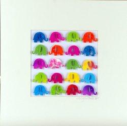 Little Elephants, collage, 23x23cm (sold)
