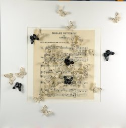 Madame Butterfly 2, collage, 50x50cm (sold)