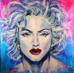 Madonna, oil on canvas, 80x80cm, (NFS)