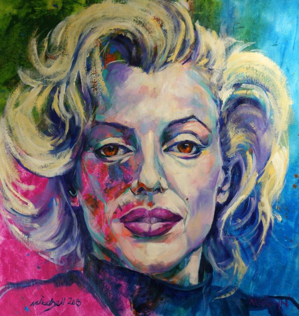 Marilyn, oil and acrylic on canvas, 80x80cm (sold)