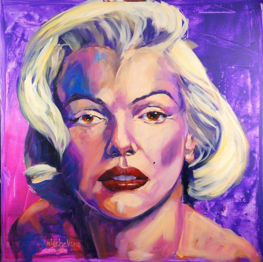 Marilyn, oil on canvas, 80x80cm (NFS)