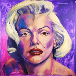 Marilyn, oil on canvas, 80x80cm (NFS)