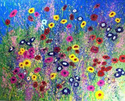 Meadow 2, acrylic on canvas, 100x80cm (SOLD)