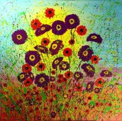 Meadow 5, acrylic on canvas, 80x80cm (sold)