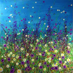 Meadow, acrylic on canvas, 100x100cm SOLD