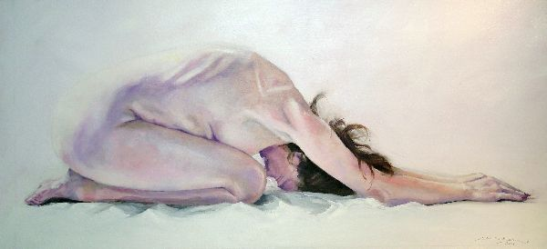 Nude, 110x50cm, oil on canvas - SOLD