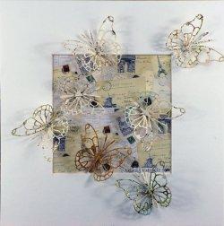 Parisienne, collage, 23x23cm (sold)