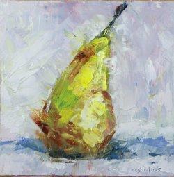 Pear, oil on board, 20x20cm (sold)