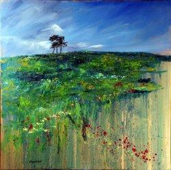 Pen-y-Wern III, oil on canvas, 80x80cm