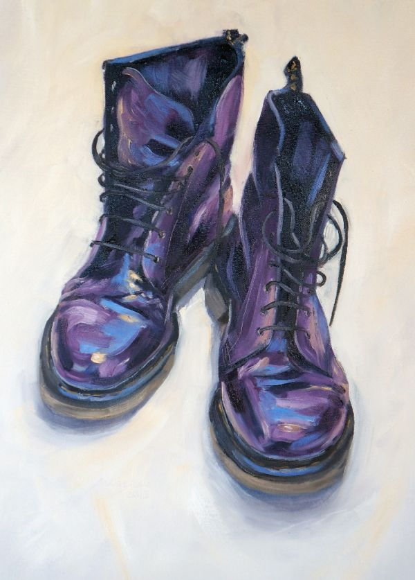 Purple DMs 2013, oil on canvas, 45x60cm - SOLD