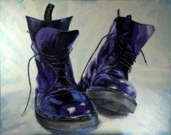 Purple DMs 2016, oil on canvas, 100x80cm (sold)