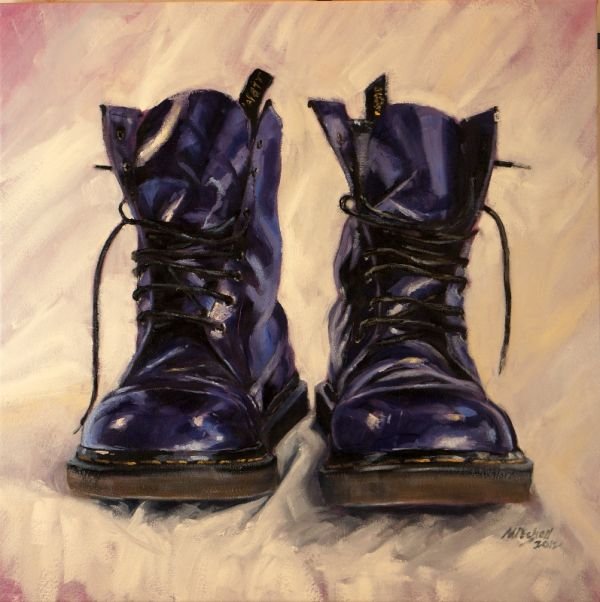 Purple DMs 4, oil on canvas, 70x70cm SOLD