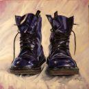 Purple DMs 4, oil on canvas, 70x70cm SOLD
