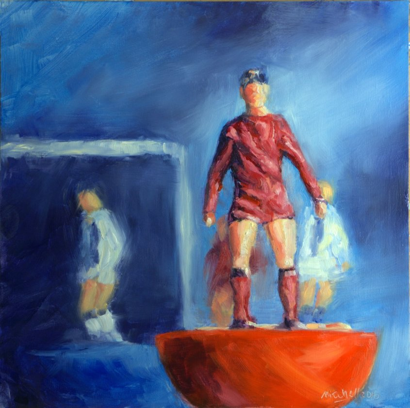 Red, oil on board, 30x30cm - £140