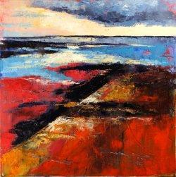 Swale Slipway, oil on canvas, 60x60cm