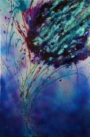 Thistle, mixed media on canvas  (SOLD)