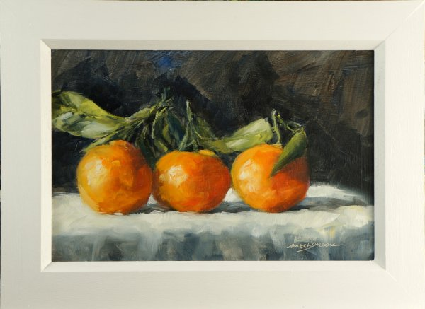 Three Cherries, oil on board, 30x20cm (sold)