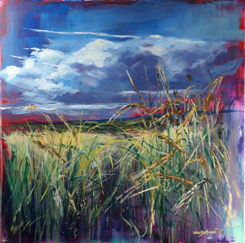 Through the Corn 3, oil on canvas, 80x80cm SOLD