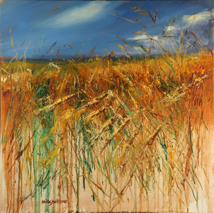 Through the Corn 4, oil on canvas, 60x60cm (sold)