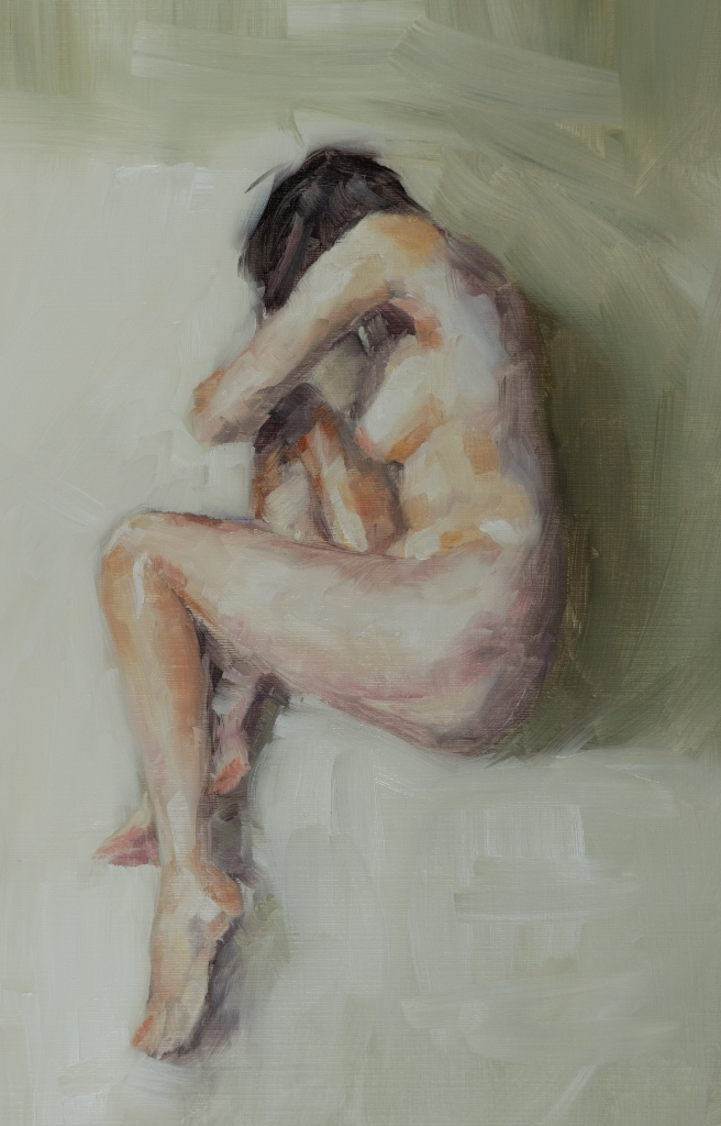 Vulnerability, oil on paper, 25x35cm