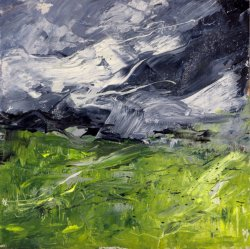 Windy, oil on board, 20x20cm (sold)