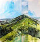Worcester Beacon, oil and acrylic on canvas, 70x70cm