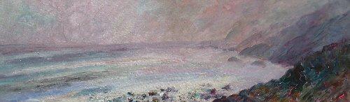 Mist over Tregardock Beach