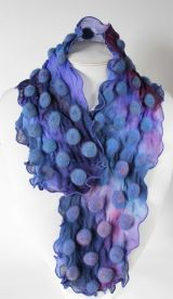 Lavender Bubbles Hand painted silk
