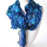 Ocean Collection Lagoon Flowers Scarf