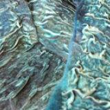 Pale aqua felted velvet scarf
