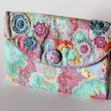 Raspberry Flowers Wallet/Organiser