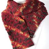 Scarlet felted velvet scarf