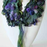 Viola Collection. Spring Violas Scarf