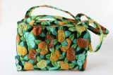 Green leaves applique handbag