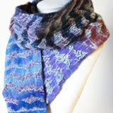 midnight felted silk velvet scarf