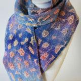 sunset felted silk velvet scarf