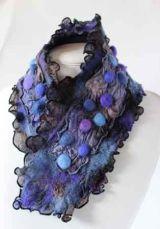 Violet rock pool neckpiece