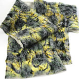 yellow felted velvet scarf