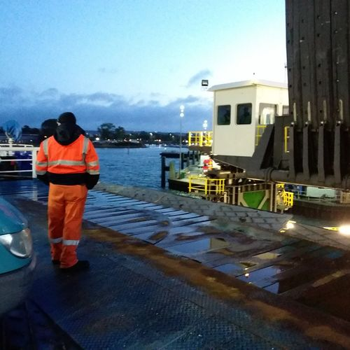 Waiting to dock, Portsmouth, 6.30am