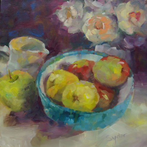 Applescape. oil on canvas.