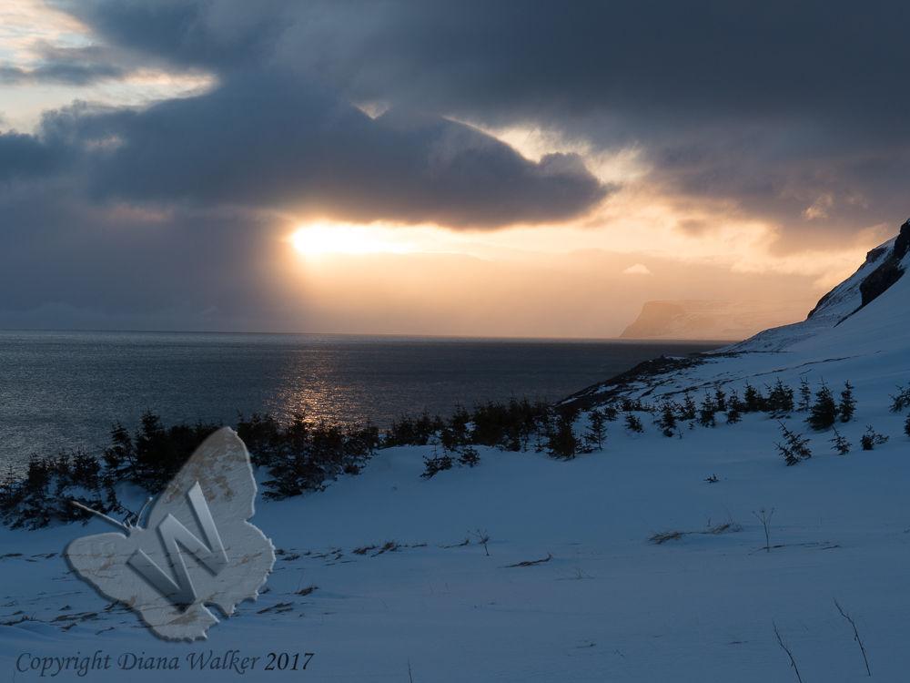 Sunset over Jokulfirdir