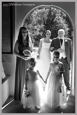 Just before the church ceremony
