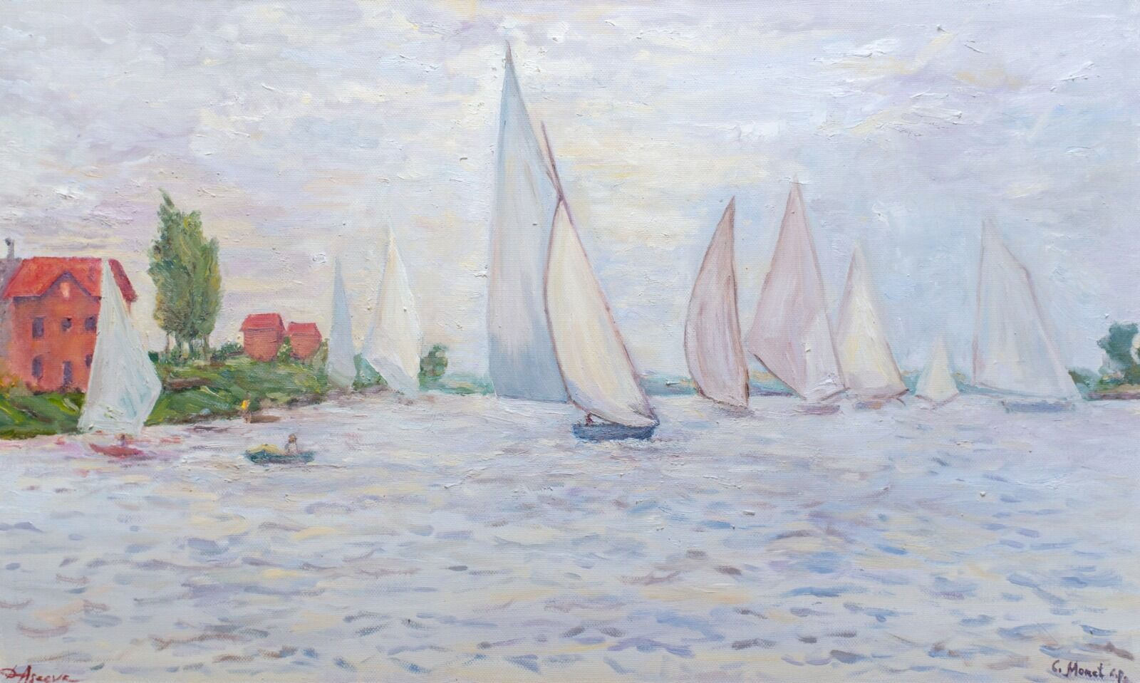 Inspired by C.Monet's Regatta at Argenteuil