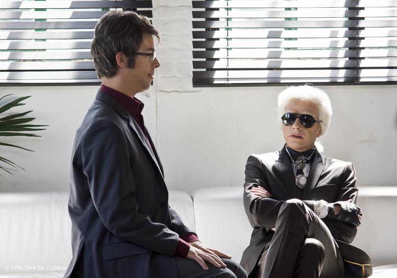 Martin Heylen en Karl Lagerfeld.