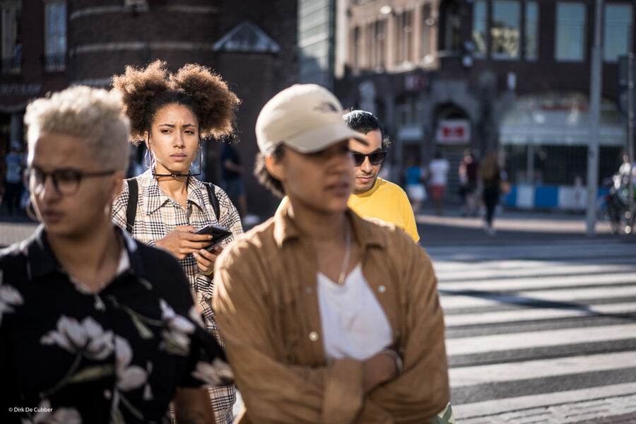 On the streets of Amsterdam.