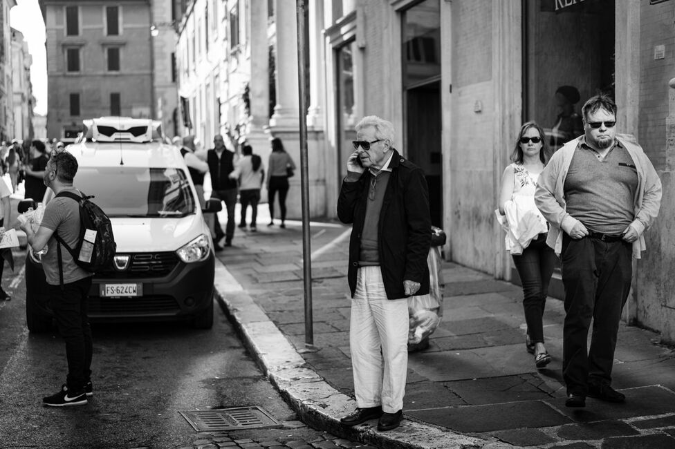 On the streets of Rome.