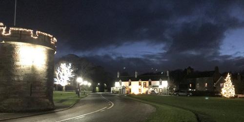 Xmas Lights all over village