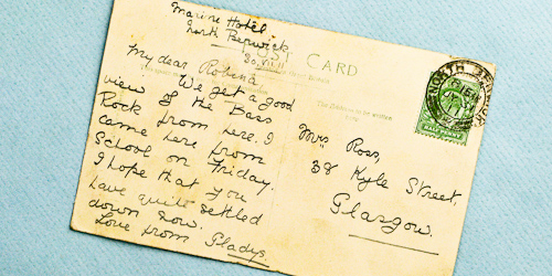 postcard to gladys