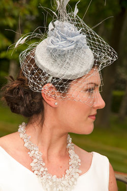 Natasha in Bridal headwear