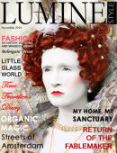 FRONT COVER SHOOT FOR LUMINSTYLE FASHION & BEAUTY MAGAZINE LONDON FASHION WEEK EDITION